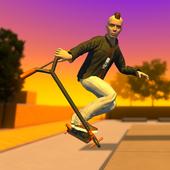 街道线路:滑板车游戏